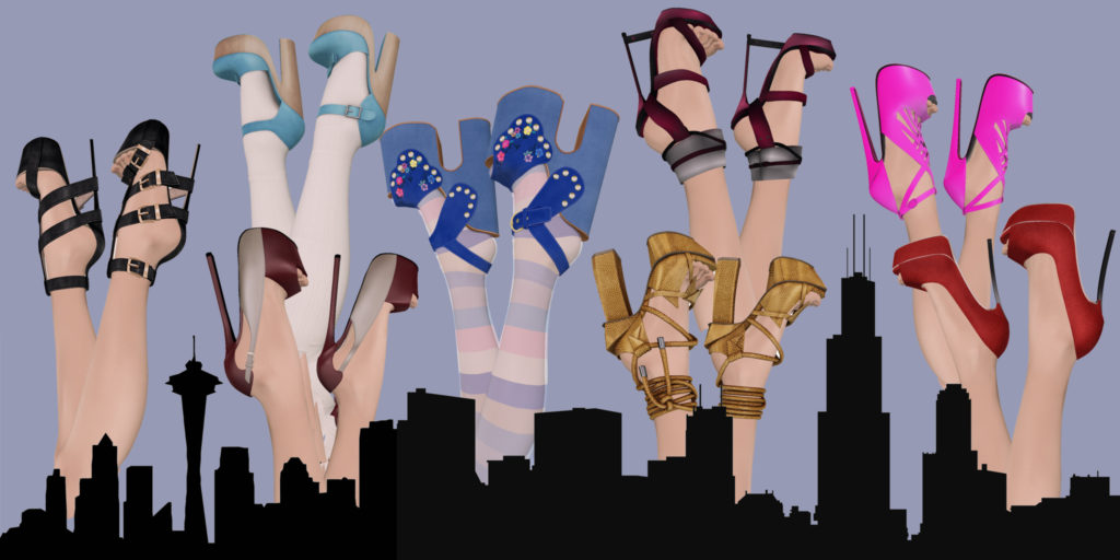 high heel collection